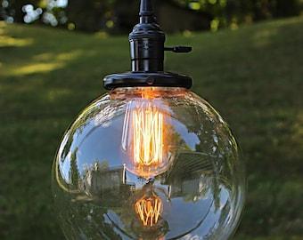 Glass Globe Sphere Pendant Light, Industrial Lighting, Globe Chandelier, Island Ceiling Lighting, Sphere Chandelier, Pendant Lights BPGL-81