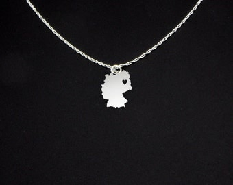 Germany Necklace - Germany Jewelry - Germany Gift