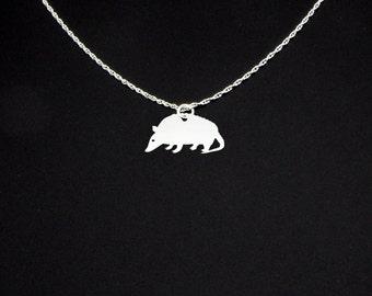 Armadillo Necklace - Armadillo Jewelry - Armadillo Gift