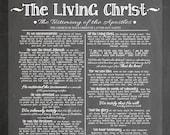 DIGITAL ART - The Living Christ, lds chalk art, lds home decor, lds apostles, printables, digital download, Lds art download