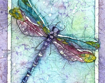 Dragonfly Art,Dragonfly Watercolor,Dragonfly Painting,Watercolor Painting, Metal Art,Aluminum Dragonfly,Wall Art Painting ,95.00