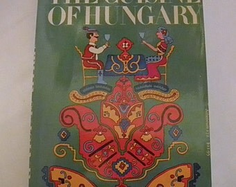 1971 The Cuisine of Hungary George Lang Hungarian Budapest Cookbook Softcover
