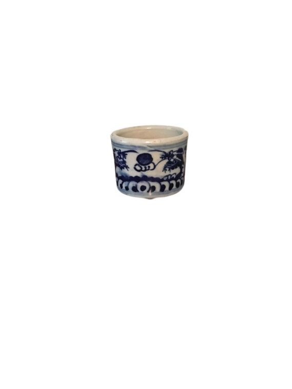 Planter Blue And White Chinoiserie Oriental Chinese Porcelain