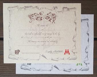 commemorative certificate template - invite mariage etsy