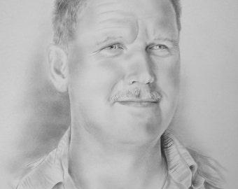Custom Portrait, Commission Portrait, Personalized Gift, Portrait of Person, Childrens Portrait, Pencil Drawing, Handmade Portrait