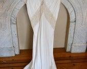 Long Silk Vintage Lingerie Gown