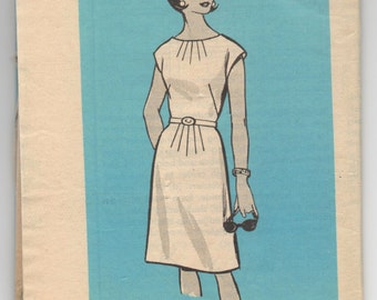 "1960's Mail Order One Piece Dress Pattern - Bust 37"" - No. 9480"