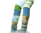 Colorful Leg Warmers, Upcycled Leg Warmers, Upcycled Clothing, Long Leg Warmers, Boho Boot Toppers, Retro Scrunch Leggings, Embroidery