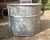 Zinc planter, galvanised plant container, large metal plant pot