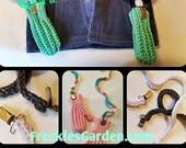 Crocheted LONG Mitten String with clips - by Freckles Garden - All Ages, Baby, Toddler, Youth, Adult, Never loose a mitten again