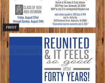 Family reunion invitations Etsy