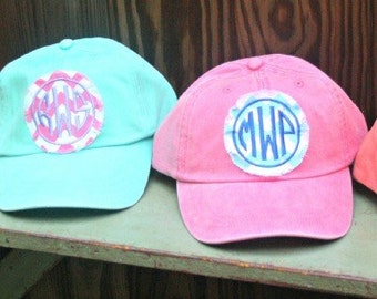 Monogram Patch Baseball Cap - Monogrammed Hat - Custom Monogram Fabric Patch Hat - Bridesmaids Gift - Monogram Patch Hat