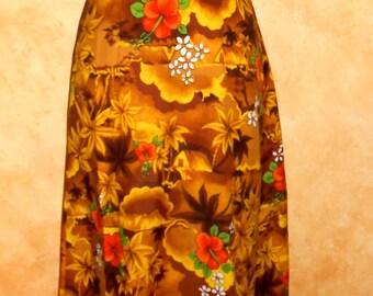 Vintage 60s/70s Easy Breezy Royal Hawaiian Maxi Summer Beach Boho Dress (10)
