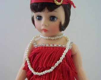Flapper in  red Madame Alexander 10 in doll