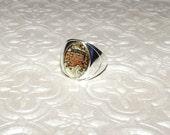 Cincinnati Bengals Inspired Marble Ring