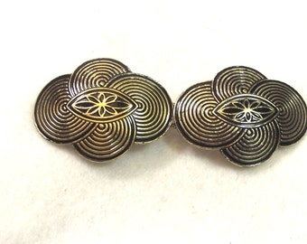 Vintage Cape Closure - Metal Cape Closure - Art Deco Jewelry - Vintage Jewelry - Art Deco Cape Buttons - Metal Cape Closure