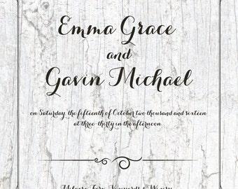 Wedding Invitation - White Birch