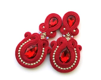 Christmas gift for wife - Christmas gift for girlfriend - Soutache earrings - Anniversary gift for wife wholesale jewelry wholesale earrings
