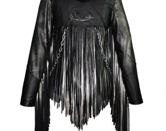 "Laura Diamond "" fringed jacket"""