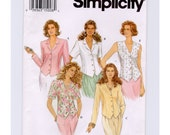 Simplicity 8845 Misses Semi-fitted Tops w/ Princess Seams & Shaped Hemline Vintage Womens Sewing Patterns Size 12 14 16 Bust 34 36 38 UNCUT