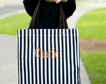 Trick or Treat Bag, Monogram Trick or Treat bag, Halloween bags, Trick or Treat totes, Halloween Bags