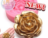 Big Rose Flower Flexible Silicone Mold 779m Fondant Royal icing Chocolate Gumpaste Candy FIMO Polymer Clay BEST QUALITY