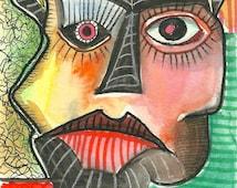 Original Outsider Art Drawing- Art Brut - Primitive Art - Neo- Expressionism - Raw Art - Original Drawing