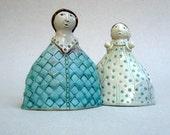 Ceramic Sculpture,Two Girls , Sisters , Best Friends , Ceramic Figurines