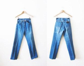 Wrangler Jeans / 70s Wrangler Jeans / High Waisted Vintage Jeans / Mom Jeans / Wranglers 25