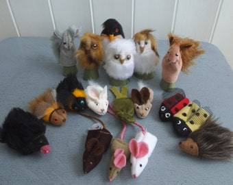 British Wildlife Selection (10 finger puppets)