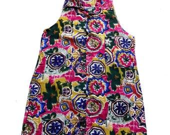 Women's Remade Vintage 80's Long Silk Shirt UK 12