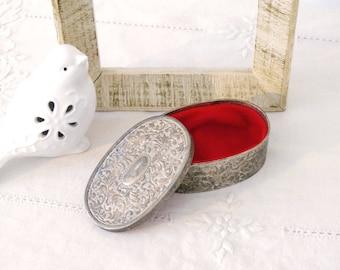 Silver Trinket Box Vintage