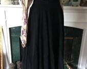 Reserved for Suzy 50s High Cummerbund Waist Rayon Jersey Sweep Skirt