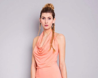 "Dress ""Mallow"", salmon"