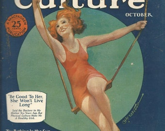Vintage October 1925 Physical Culture Magazine