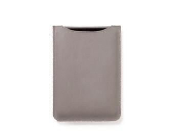 iPad Mini Case, Leather iPad Mini Sleeve In Light Cream