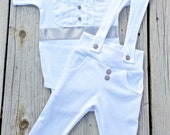 baby boy blessing/christening outfit,  white and gray baby tuxedo, baby blessing bodysuit, baby christening bodysuit, leggings, bubble print