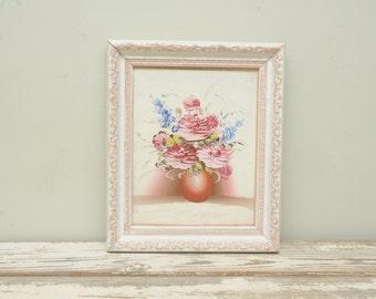 Vintage Painting Pink Roses