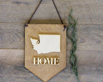 Home . Pick Your State . Laser Cut Wood . Wall Hanging Banner . Wall Art . Home Decor . Wood Sign . Washington