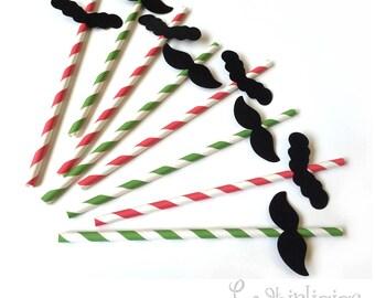 12 Mario & Luigi Mustache Straws