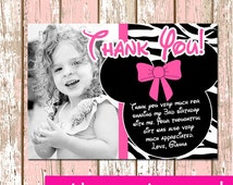 Minnie Mouse Thank you card 4X6 or 5X7 Digital File