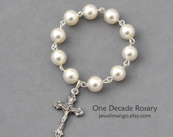 One Decade Rosary / Communion Gifts / Pocket Rosary / Communion favors / Religious / Confirmation / Prayer / Catholic Rosary  / Baptism Gift