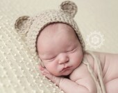 PDF Crochet Pattern #0006 for Newborn Chunky Bear Bonnet - Welcome to sell finished items