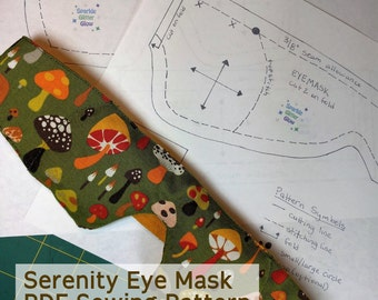 Serenity Eye Mask - PDF Pattern