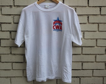 Vintage CLINTON GORE Victory shirt 1996 Windjammer tag presidential election politics Bill Clinton Al Gore democrat