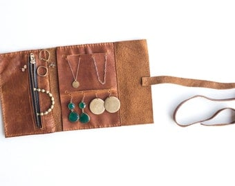 Leather Jewelry Organizer - For on the go