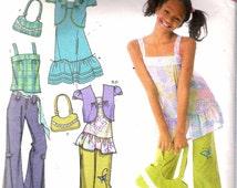 "2006 Simplicity 4208 That's So Raven, Girl's Dress, Tunic, Bolero, Pants & Bag Sewing Pattern Size AA 8 - 16 Chest 27"" - 34"" UNCUT"
