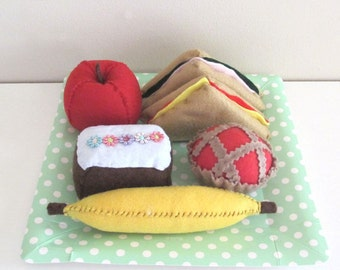 Felt Picnic Set, Felt Food, Play Food Bulk, Pretend Food, Felt Fruit, Felt Bread, Toy Kitchen Food