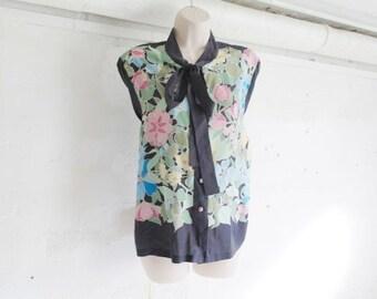 Vintage 90 floral black shirt
