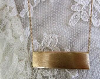 Brushed metal necklace